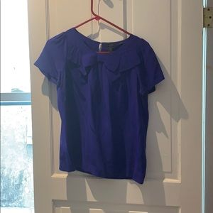J.Crew blue/purple blouse with bow